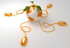Weltorange Web Lizenzfreies Stockbild