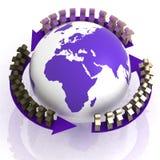 Weltpartnerübereinstimmung Stockbild