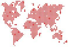 Weltpixelkarte Lizenzfreies Stockfoto