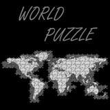 Weltpuzzlespiel Stockfoto