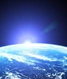 Weltraum des Sonnenaufgangs Stockfoto