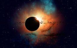 Weltraum-Eklipse Lizenzfreie Stockfotografie