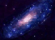 Weltraum-Galaxie Andromeda niedriges Poly Lizenzfreies Stockfoto