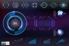 Weltraum Hud-Hintergrundes Infographic Elemente Digital-Daten, abstrakter Hintergrund des Geschäfts Infographic Elemente Futurist lizenzfreie abbildung