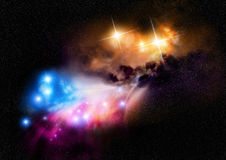 Weltraum-Nebelfleck Stockfotos