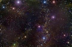 Weltraum-Sternnebelfleck des Universums Stockbild