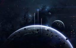 Weltraumforschungsfiktionsbild Elemente dieses Bildes geliefert von der NASA lizenzfreie stockbilder