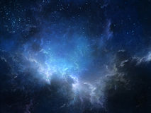 Weltraumnebelfleck stock abbildung