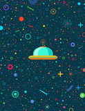 Weltraumroboterpostkarte Lizenzfreies Stockfoto