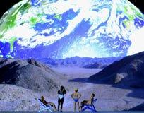 Weltraumtouristen stockbilder