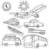 Weltreise-Ausrüstung Lizenzfreies Stockbild