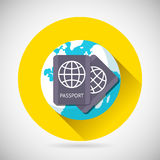 Weltreise-Symbol-internationale Pass-Erde vektor abbildung