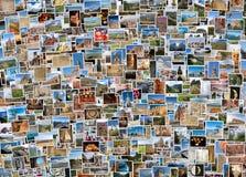 Weltreisecollage Stockfotografie