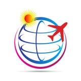Weltreiselogo Lizenzfreies Stockbild