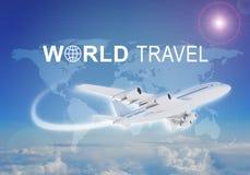 Weltreisetitel stockbilder
