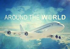 Weltreisetitel Stockfotografie