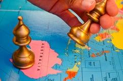 Weltschachaustralien-Bischofsbewegung Stockfotografie