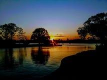 Weltschaukasten-Sonnenuntergang stockfotos