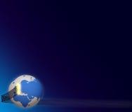 Weltseilzugtelekommunikation 3d CG vektor abbildung