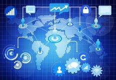 Weltsocial media-kommerzielle Grafik Lizenzfreie Stockfotos