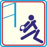 Weltsporttraining, Ikone, Illustrationen Lizenzfreies Stockfoto