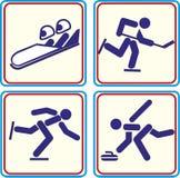 Weltsporttraining, Ikone, Illustrationen Lizenzfreies Stockbild
