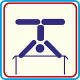 Weltsporttraining, Ikone, Vektor Illustrationen Stockfoto