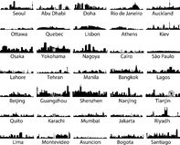 Weltstädte lizenzfreie abbildung