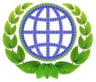Weltsymbol lokalisiert lizenzfreie stockfotos