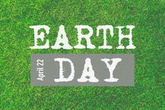 Welttag der erde am 22. April Tag der Erde-Text Lizenzfreie Stockfotografie