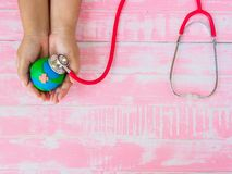 Welttag der erde am 22. April und Weltgesundheitstag, am 7. April Konzept Stockbilder