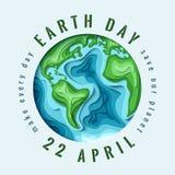 Welttag der erde-Konzept stock abbildung