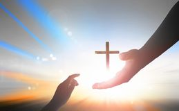 Welttag der Erinnerung: Gott ` s Handreichung lizenzfreies stockbild