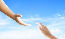 Welttag der Erinnerung: Gott ` s Handreichung stockfotos