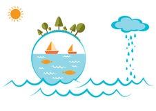 Welttag für Wasserdesignillustration Lizenzfreies Stockfoto