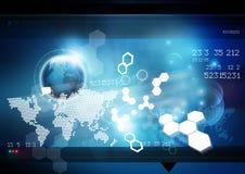 Welttechnologie-Hintergrund Stockbild