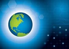 Welttechnologie-Konzepthintergrund Lizenzfreie Stockfotos