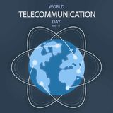 Welttelekommunikations-Tag, am 17. Mai vektor abbildung