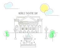 Welttheater-Tag Stockbilder