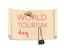Welttourismustag, am 27. September Stockbild