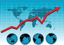 Weltverkaufs-Diagrammvektor Stockbild