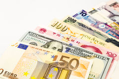 Weltwährungsbanknoten Stockbild