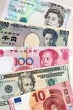 Weltwährungsbanknoten Stockfotos