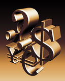 Weltwährungszeichen Lizenzfreies Stockbild