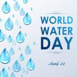 Weltwasser-Tag im weißen Hintergrund Stockbilder