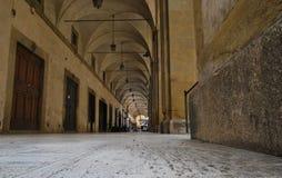 Weltweite berühmte Logge Del Vasari in Arezzo Italien Lizenzfreie Stockbilder