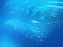 Weltweite communcations Lizenzfreies Stockfoto