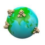 Weltweite Versand-Illustration Stockbilder