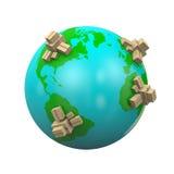 Weltweite Versand-Illustration Lizenzfreies Stockbild