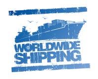 Weltweiter Verschiffenstempel. Lizenzfreie Stockbilder
